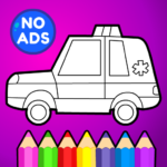 🚗 Learn Coloring & Drawing Car Games for Kids  🎨 APK MOD 9.0