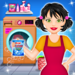 Home Laundry & Dish Washing: Messy Room Cleaning APK MOD 1.0.5