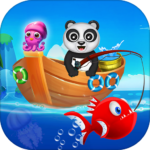Happy Fisher Panda: Ultimate Fishing Mania Games APK MOD 2.5
