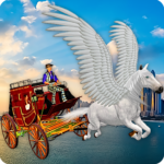 Flying Horse Taxi City Transport: Horse Games 2020 APK MOD 2.2